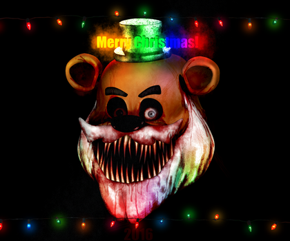 FNAF- Merry Christmas? Oh... Freddy by Christian2099