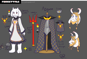 Forget!Tale Toriel and Asgore Design Refrence by SuperBecky