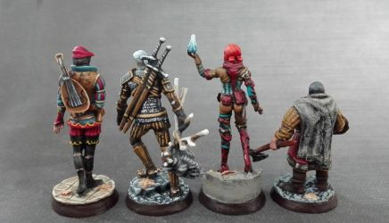 Witcher Miniatures - back by Cezarreo