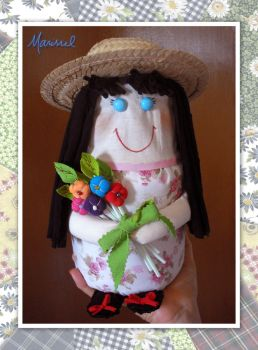 Doll with flowers by marissel