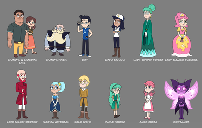 Aurora - Secondary Characters Design 2 by jgss0109