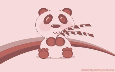 Pink Panda Vector by Scully7491