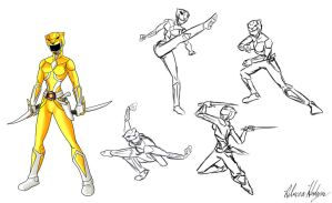 Yellow Ranger- Design by RebeccaHudgens