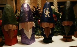 Hand Carved Wood Gnomes by Des804
