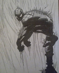 Spider-Man in the Rain by Yusuke99
