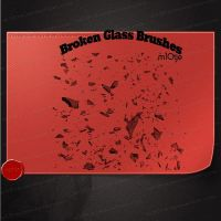 Broken glass brushes by M10tje