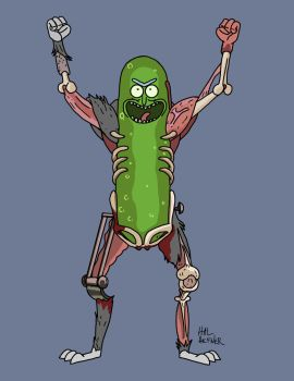 Pickle Rick by HalHefnerART