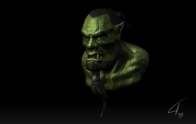 Orc head by Nazgul91