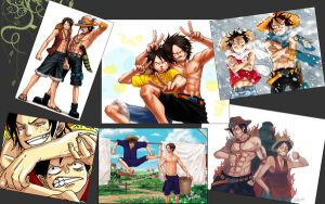 Monkey D. Luffy- Portgas D.Ace by Mazi-neko