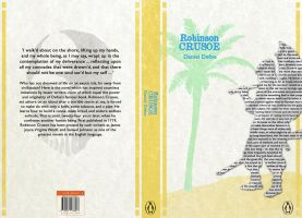 Book Cover Project 'Robinson Crusoe' by Sidera1993
