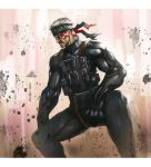 old solid snake by longai