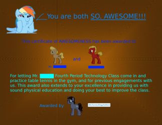 Certificate of AWESOMENESS by MegaFatNerd