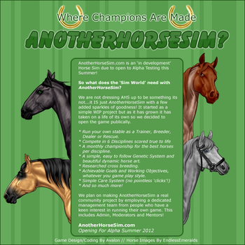 AnotherHorseSim.com - Coming Soon! by AvalonSparkles
