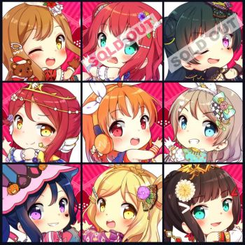 Aqours Charms Update! by Kaxukin