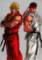 ken and ryu by ngboy and jram by artbyjram