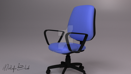 3D office chair by M-Ehab
