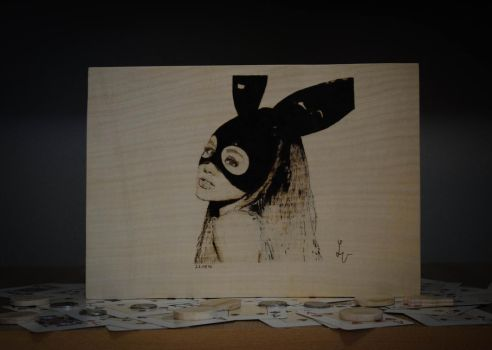 Ariana Grande Pyrography by matcheslv
