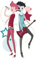 AT- Prince Gumball and Marshall Lee by Immature-Child02