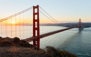 .:Golden Gate Bridge Sunrise:. by RHCheng