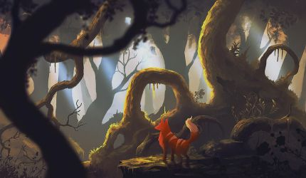 Foxy Forest by Peter-Ortiz
