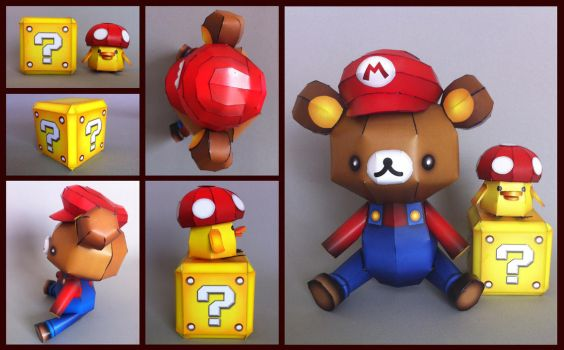 rilakkuma mario bros. tribute by ikarusmedia