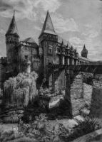 Corvine Castle Drawing by AATheOne