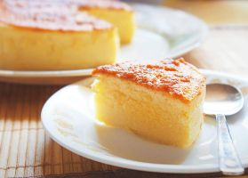 Japanese Cotton Cheesecake by ScarletWarmth