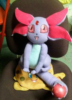 Crystal Beast Ruby Carbuncle plush by kakashi-copycat-kun