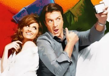 Cartoon Selfie Caskett by malshania