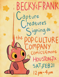 Signing this Saturday (Feb 21) in Houston, Texas!! by Pocketowl