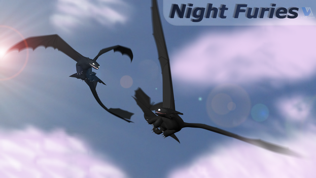 Night Furies - Tag your it. by V3DT
