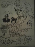 Drawing at school #2 by Foxy-Creepy