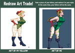 Redraw Art Trade - Cammy by Dualmask