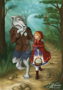 comm: Little Red Riding Hood 2 by Ailinon