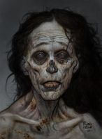 zombie acrylic sketch2 by ryanbrown-colour