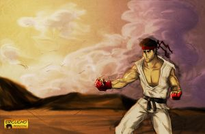 Ryu Street fighter by EricuchoValiente