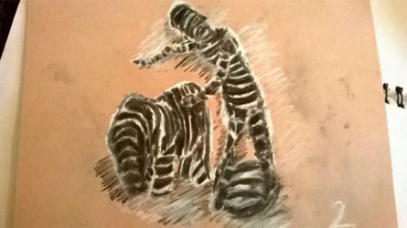 Drawing methods #2 (Chalk, charcoal) - 1 by Luminouskies