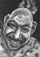 Schlitzie the Pinhead ACEO by amybalot