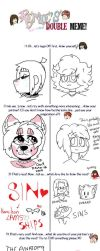double meme collab by CutieCakie