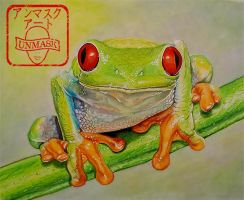 Red-Eyed Tree Frog by UnmaskArt