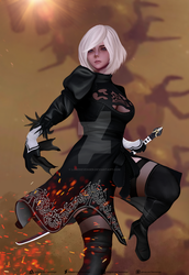 YoRHa No.2 Type B - Logan Cure Style by LoneRevenger