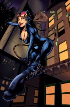 Catwoman: harpokrates and raven by ParadoxDigital