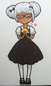 Niambi and her beloved taco by wolfypuppy