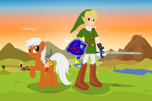 Link and Epona by Algoorthviking