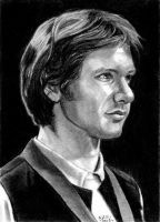Han Solo Sketch Card 7-20-2014 by khinson