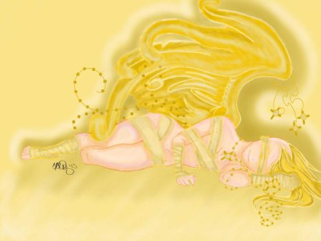 Yellow Life Angel by Mistress0Darkness