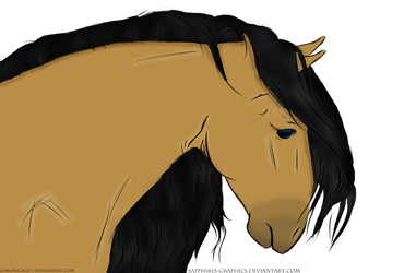 Sad Horse by Sapphires-Graphics