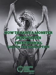 HOW TO PAINT A MONSTER USING VALUES TUTORIAL by ARTOFJUSTAMAN
