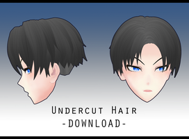 Undercut Hair [ DOWNLOAD ] by PeachMilk3D
