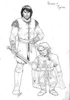Game of Thrones - Bronn and Tyrion Lannister by RubusTheBarbarian